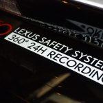 レクサス用のドライブレコーダー オリジナルステッカー