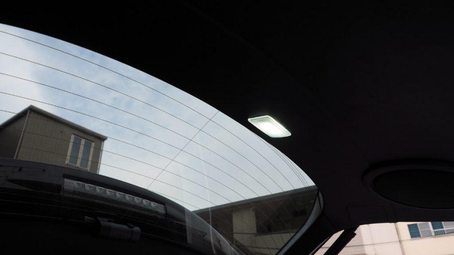 レクサスNXのバックドアに純正風ラゲージランプを追加