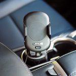 レクサスNXにオリジナルのワイヤレス充電対応スマホホルダーを装着