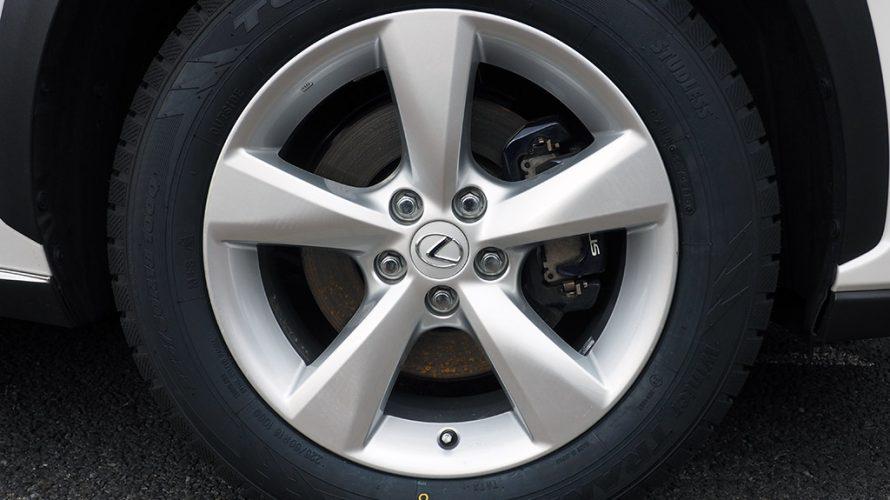 スタッドレスタイヤ トーヨータイヤ WINTER TRANPATH TX 225/60R18 + レクサスRX純正18インチホイール
