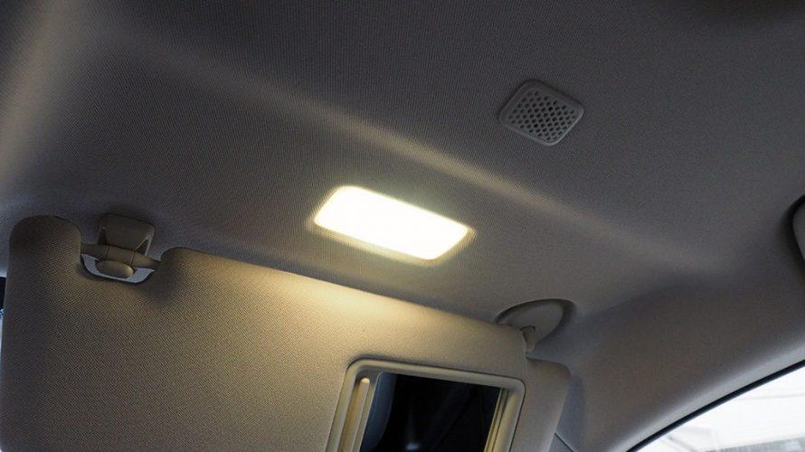 レクサスNXのバニティランプをレクサスES純正LEDランプに交換