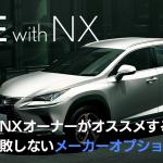 レクサスNXのおすすめメーカーオプション(2019年年次改良モデル)