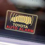 トヨタバージョンのAUTO ALARMステッカーが納品されました