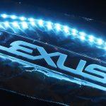 レクサスNX用ワンオフスカッフプレート(ステンレスプレート試作品&発光部試作品)