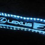 レクサスNX用ワンオフスカッフプレート(発光部試作品追加&購入希望アンケート)